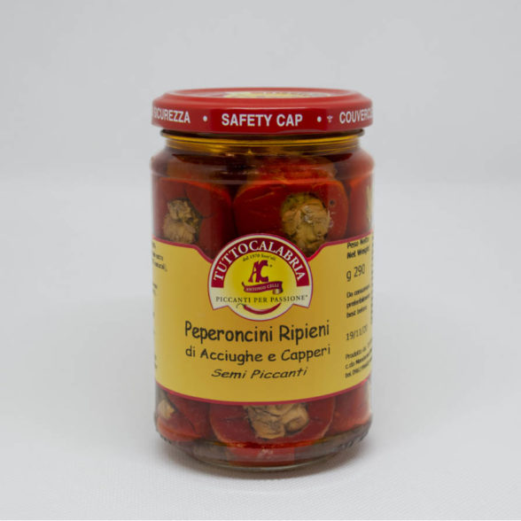 Hot Peppers With Anchovies-Capers
